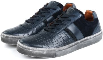 Suitable Sneaker Croco dunkelblau