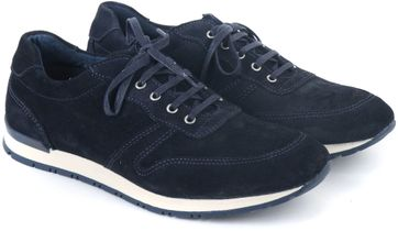 Suitable Sneaker Donkerblauw Suede