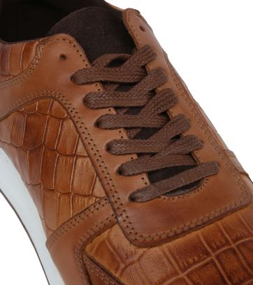 Suitable Sneaker Run Croco Bruin
