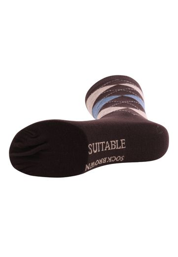 Suitable Socken Kariert Braun