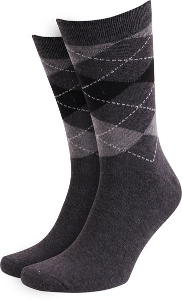 Suitable Socken Kariert Dunker Grau