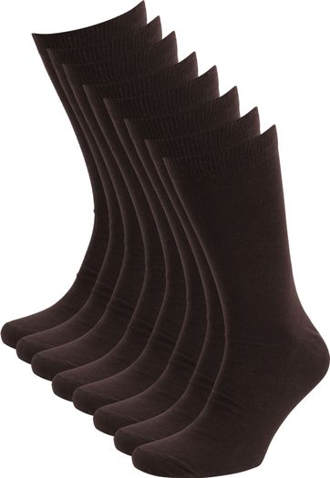 Suitable Socks Brown 8-Pack