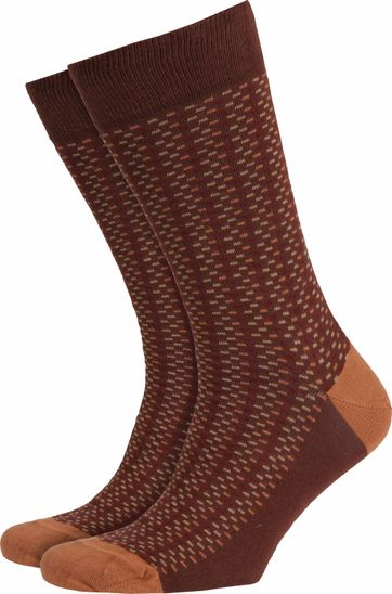 Suitable Socks Brown Stripes