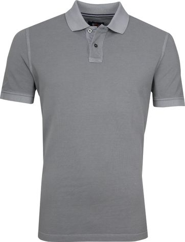 Suitable Stone Wash Poloshirt Grey