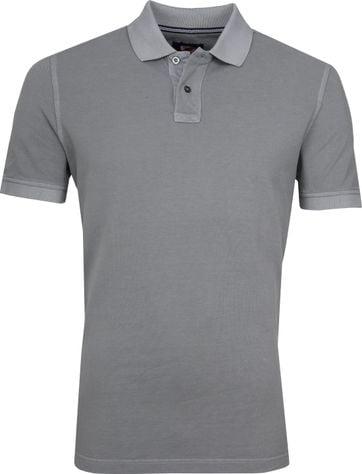 Suitable Stone Wash Poloshirt Grey
