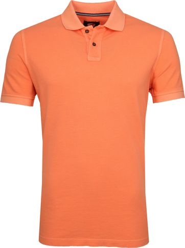 Suitable Stone Wash Poloshirt Orange