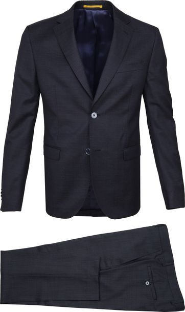 Suitable Strato Anzug Dessin Dunkelblau