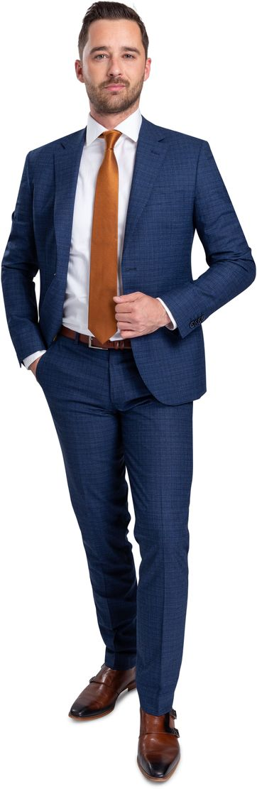 Suitable Strato Anzug Dunkelblau Dessin