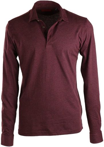 Suitable Stretch Longsleeve Polo Bordeaux