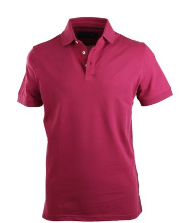 Suitable Stretch Polo Bordeaux Rood