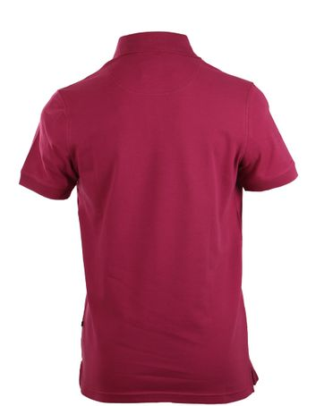 Detail Suitable Stretch Polo Bordeaux Rood