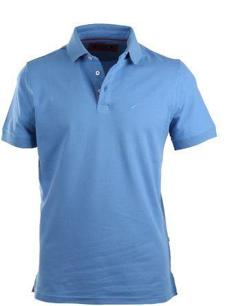Suitable Stretch Polo Mid Blue