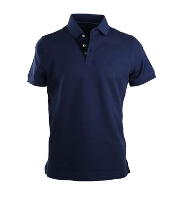 Suitable Stretch Polo Navy