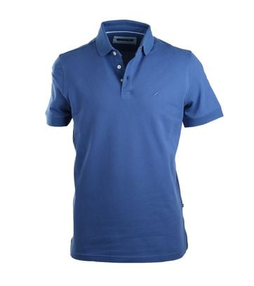 Detail Suitable Stretch Polo Royal Blue