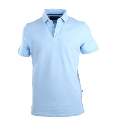 Suitable Stretch Polo Sky Blue
