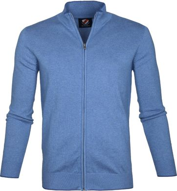 Suitable Strickjacke Hans Mid Blue