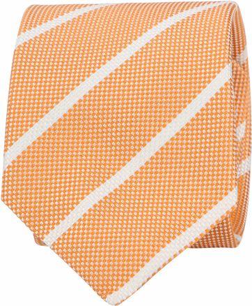 Suitable Stropdas Stripe Orange
