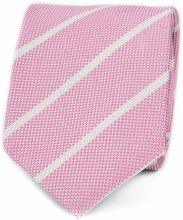 Suitable Stropdas Stripe Pink