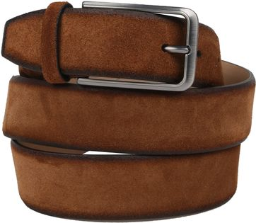 Suitable Suede Cognac Belt