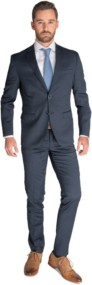 Suitable Suit Hamburg Dark Blue