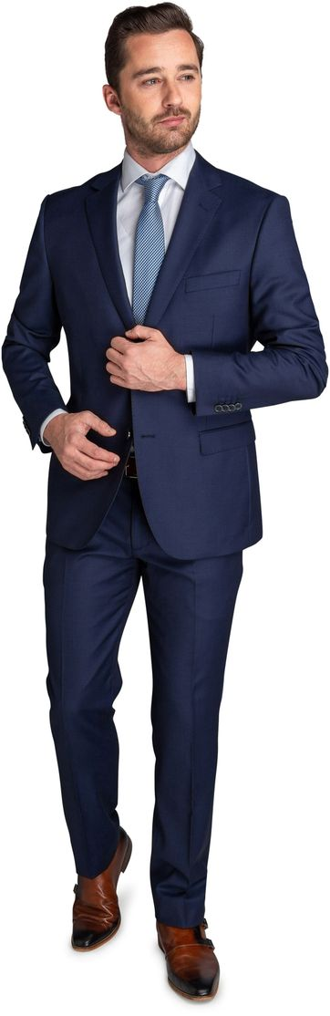 Suitable Suit Lucius Birdseye Navy
