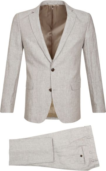 Suitable Suit Piga Delave Linen