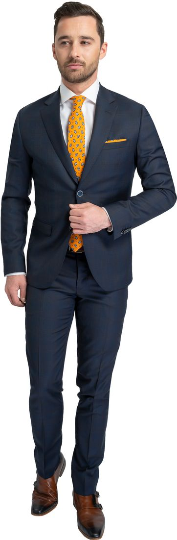 Suitable Suit Rato Red Navy