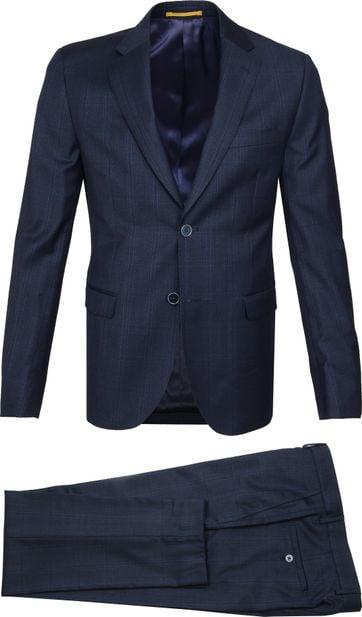 Suitable Suit Strato Navy Checks