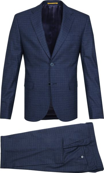 Suitable Suit Strato Navy Dessin