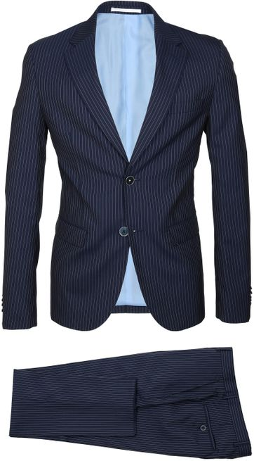 Suitable Suit Strato Stripe Navy