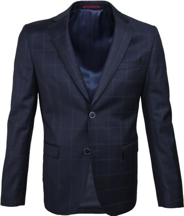 Suitable Suit Strato Tou Check Navy