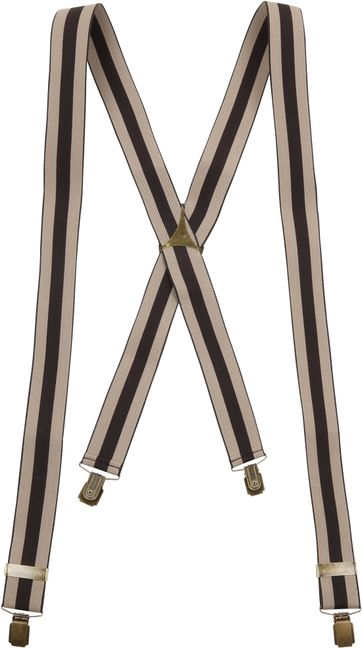 Suitable Suspenders Beige Brown