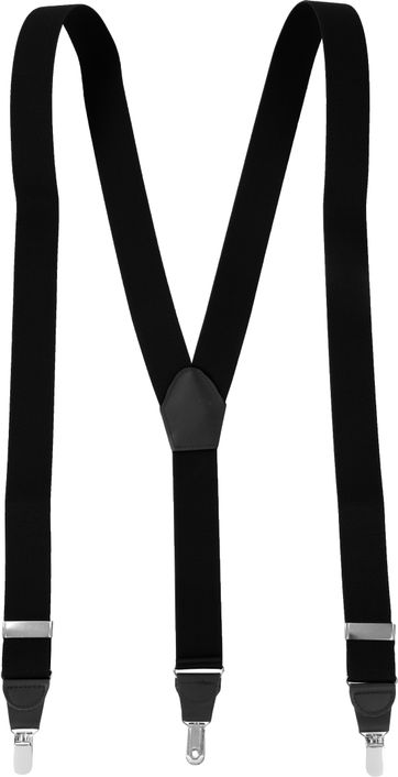 Suitable Suspenders Black Plain
