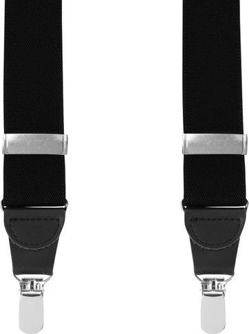 Suitable Suspenders Black Plain