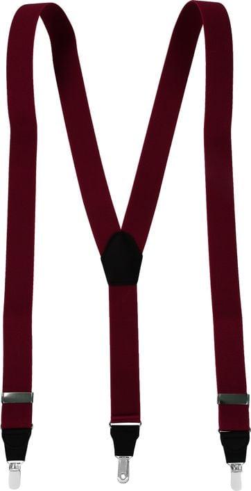 Suitable Suspenders Bordeaux Plain