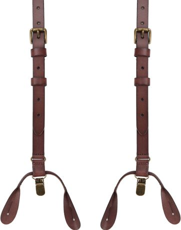 Suitable Suspenders Brown Leather