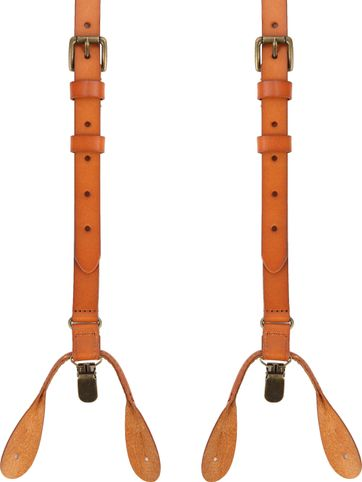 Suitable Suspenders Cognac Leather