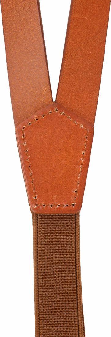 Suitable Suspenders Cognac Leather