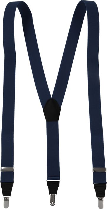 Suitable Suspenders Dark Blue Plain