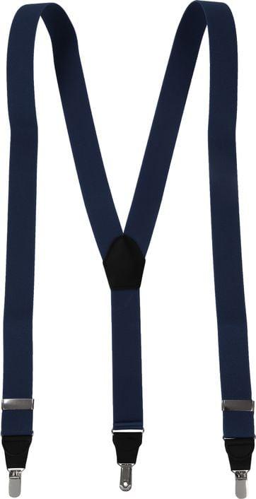 Suitable Suspenders Dark Blue Plain