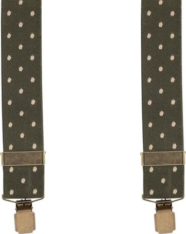 Suitable Suspenders Dark Green Dots