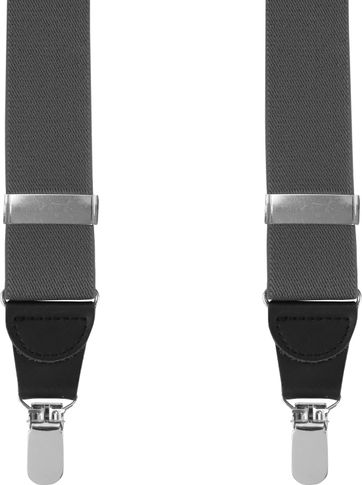 Suitable Suspenders Grey Plain