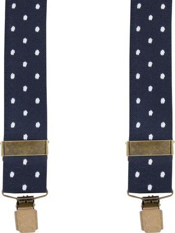Suitable Suspenders Navy Dots