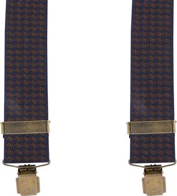 Suitable Suspenders Navy Pied De Poule