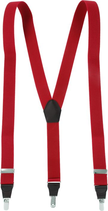 Suitable Suspenders Red Plain