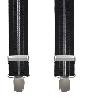 Suitable Suspenders Stipes Black