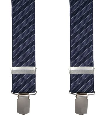 Suitable Suspenders Stipes Navy