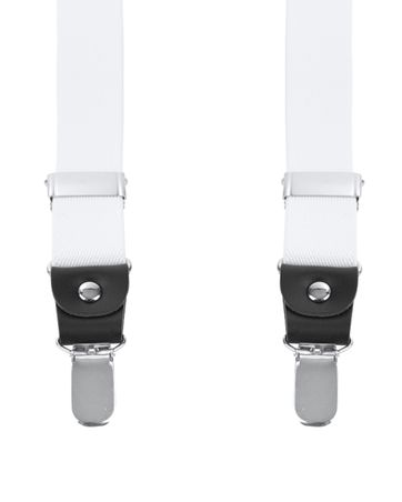 Suitable Suspenders White
