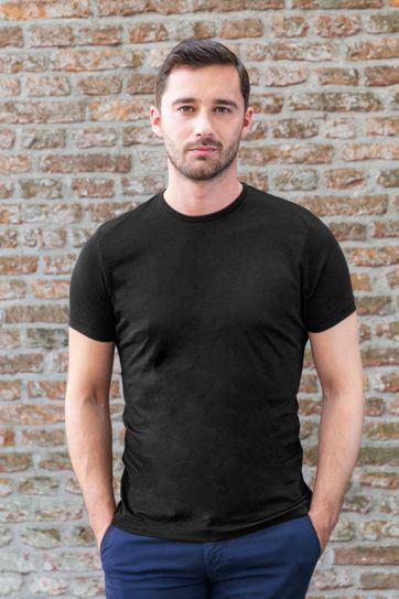 Suitable T-shirt 2-Pack O-Neck Black