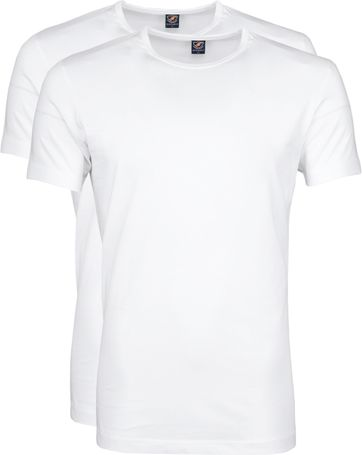 Suitable T shirt 2 Pack O Neck White